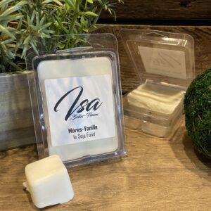 Cire de soja en cube Isa Mures - Vanille pour bruleur (6/paquet)