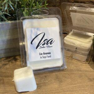 Cire de soja en cube Isa Lis - Ananas pour bruleur (6/paquet)