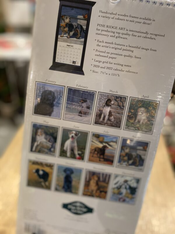 Calendrier 2021 - Chiens Pine Ridge Art 7-1/2'' x 15-1/2''